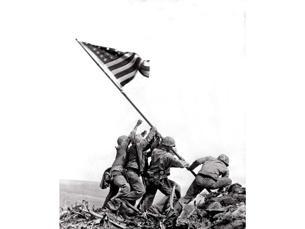 Raising the flag at Iwo Jima