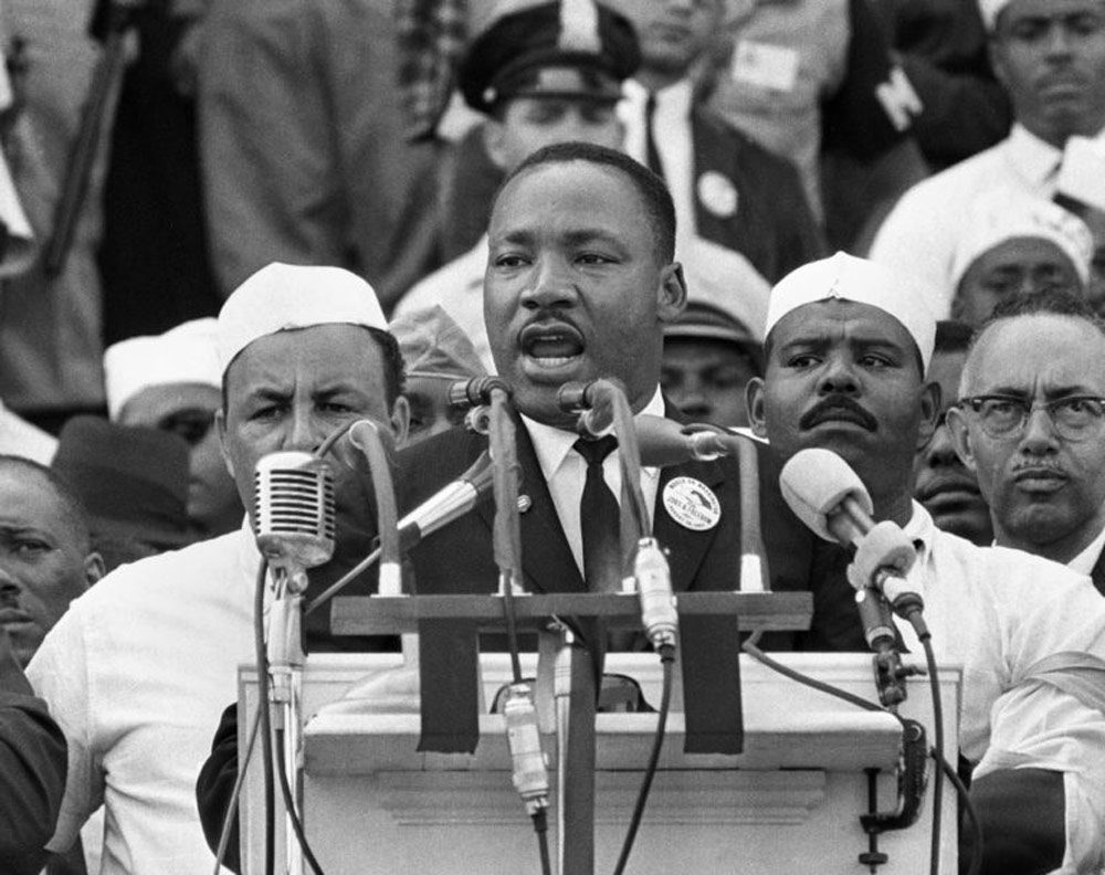 Martin Luther King Jr. giving a speech