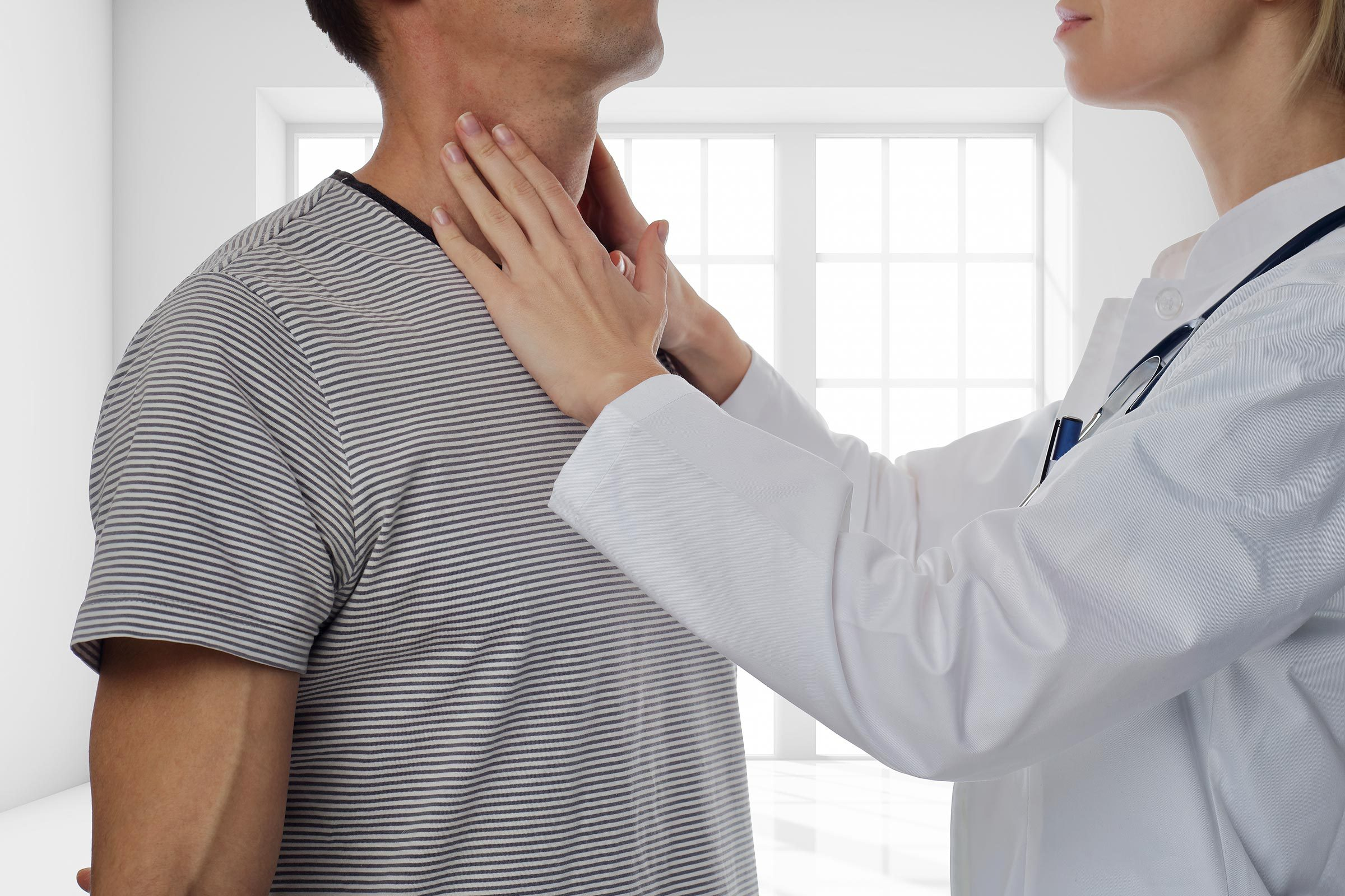 lymph nodes doctor check neck