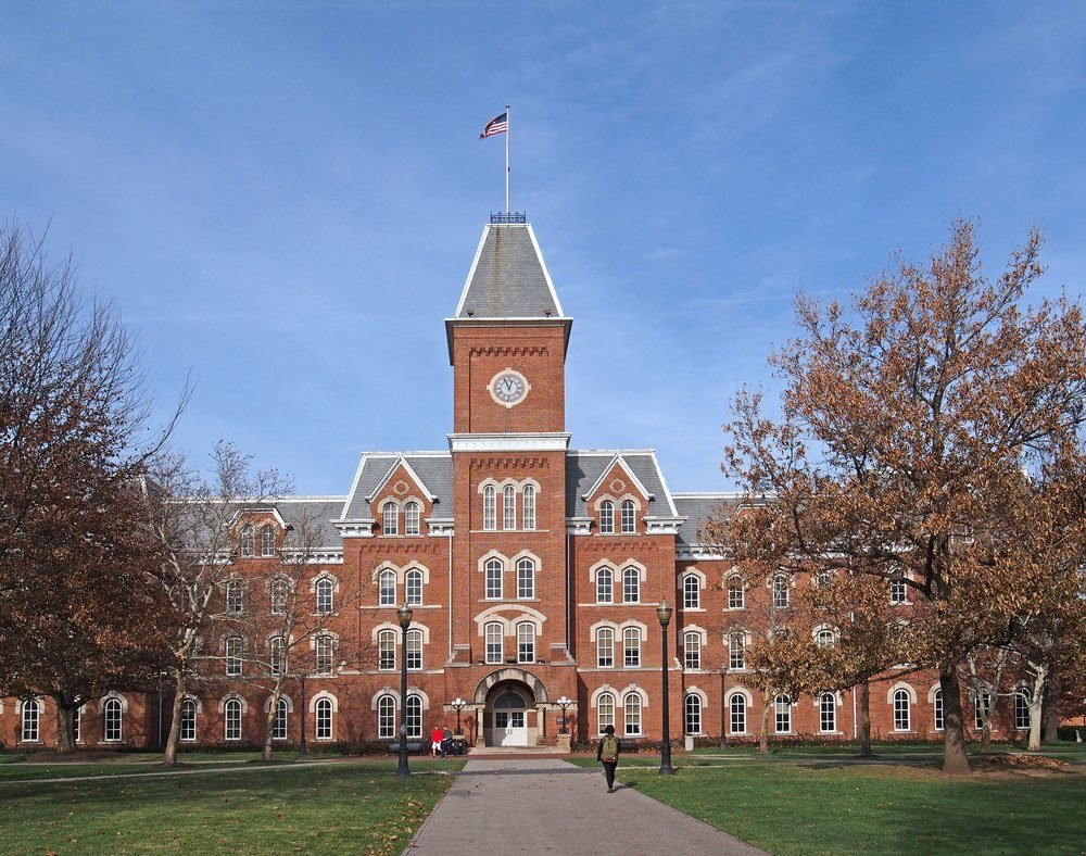 college building in fall