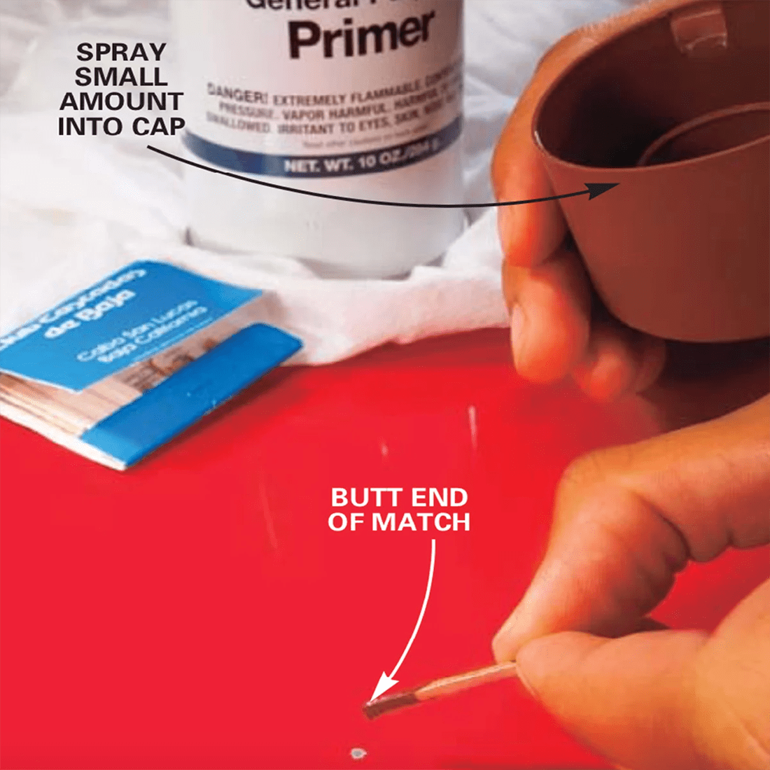 Paint chip repair - how to fix paint chips on a car - step 3