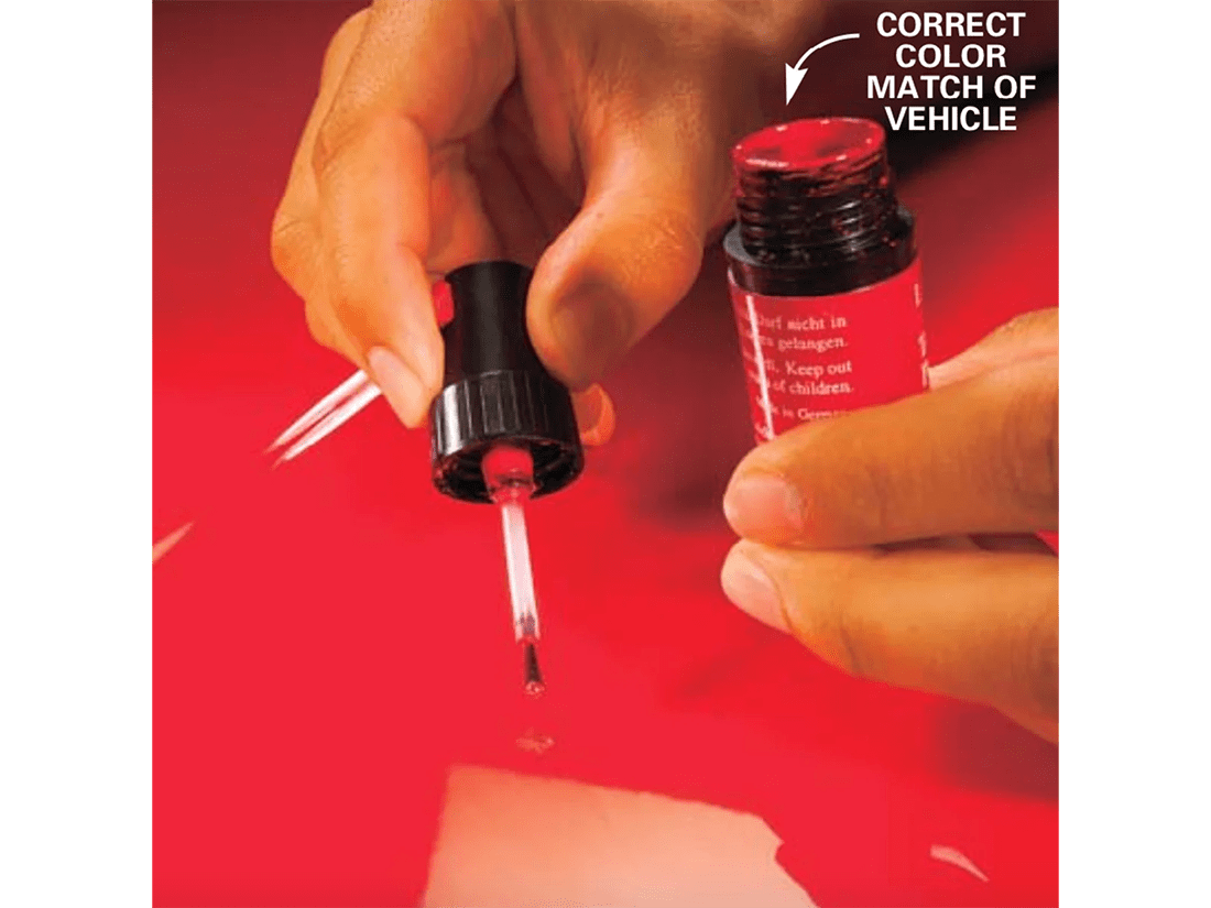 Paint chip repair: how to fix paint chips on a car - step 4