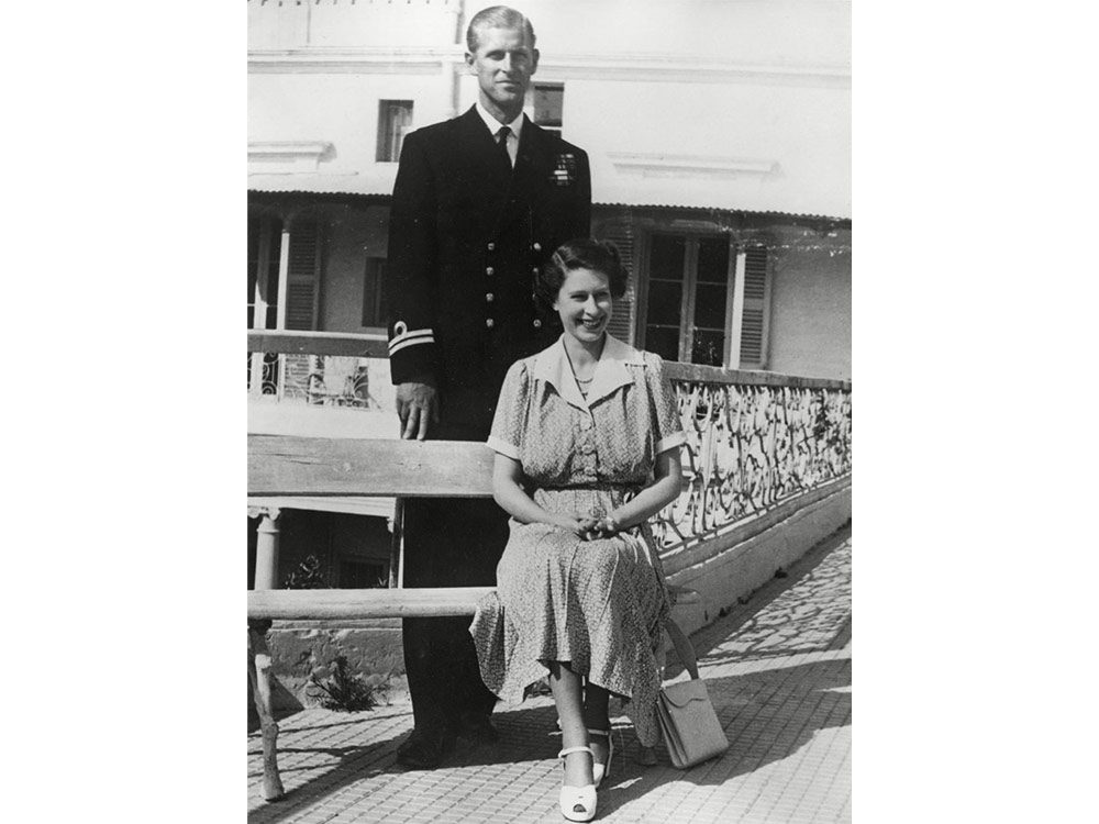 Young Prince Philip with young Queen Elizabeth