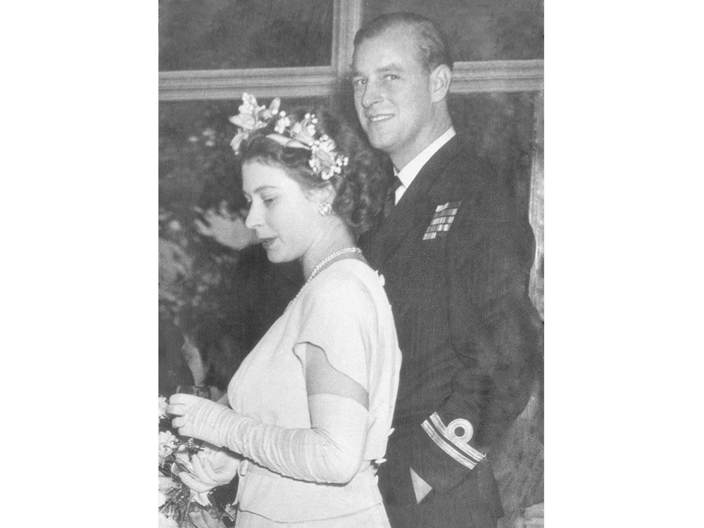 Young Queen Elizabeth and Prince Philip
