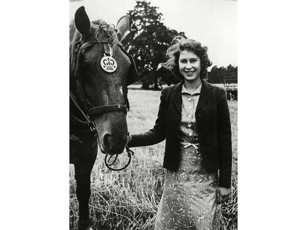 Queen Elizabeth as a teenager