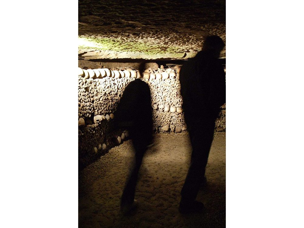 Secret catacombs of Paris