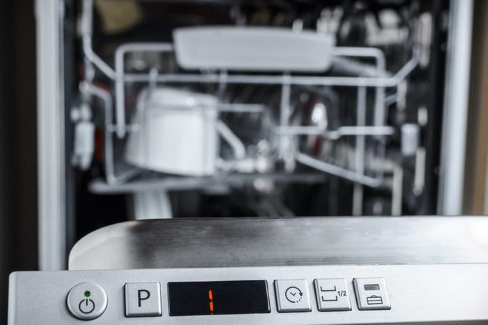 control panel, select a washing program in the dishwasher
