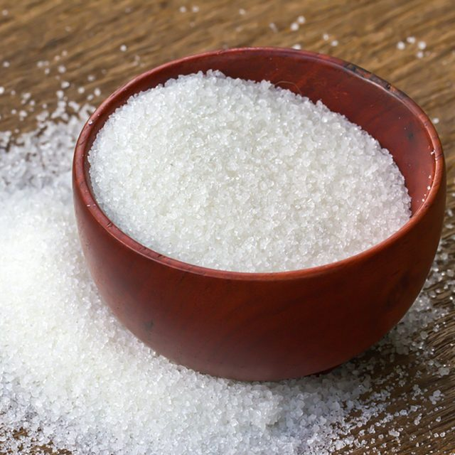 White sugar in wood bowl; Shutterstock ID 160507631; Job (TFH, TOH, RD, BNB, CWM, CM): TOH