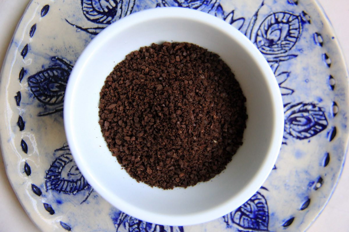 Roasted coffee grounds