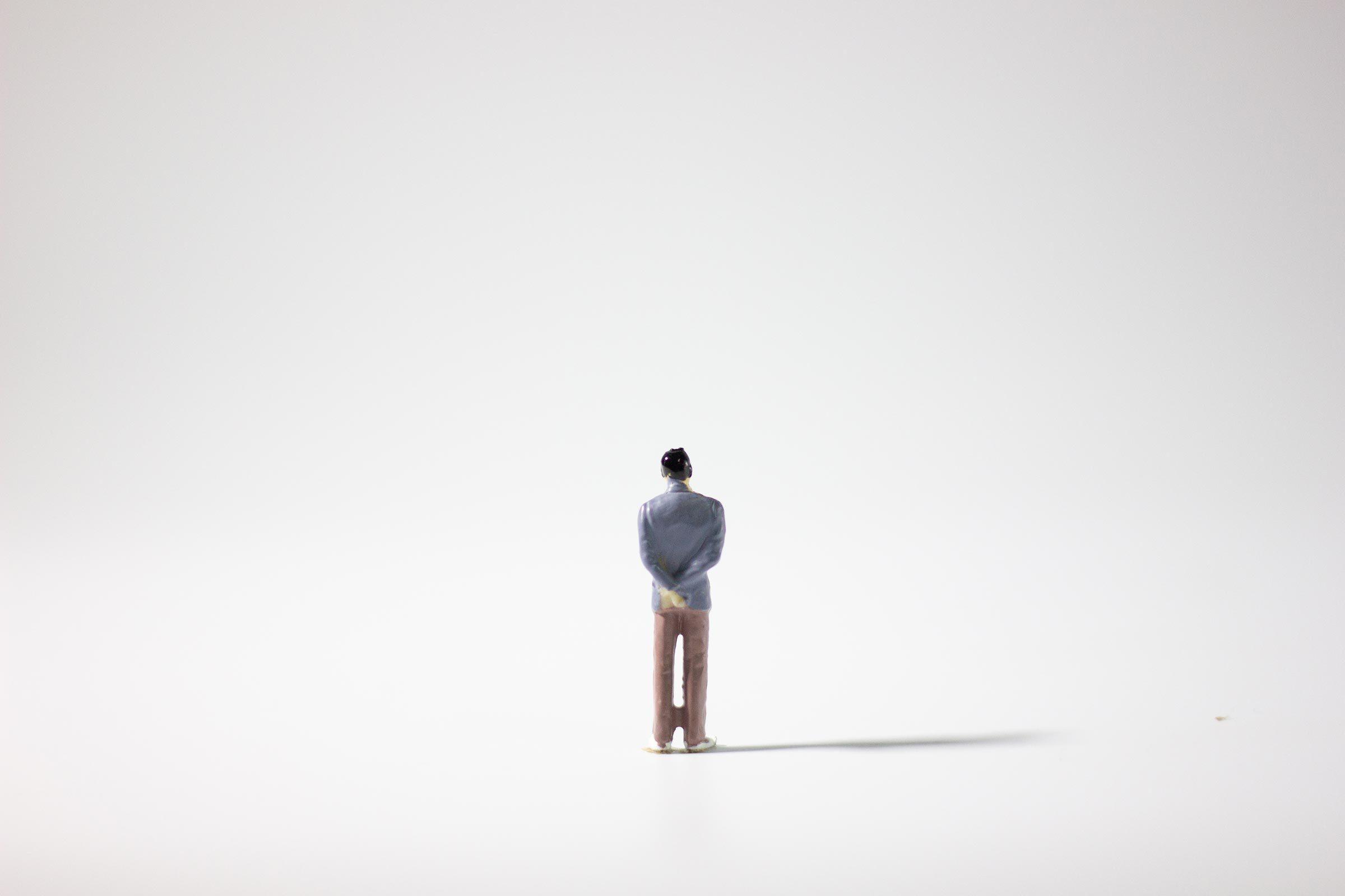 miniature figure alone lonely