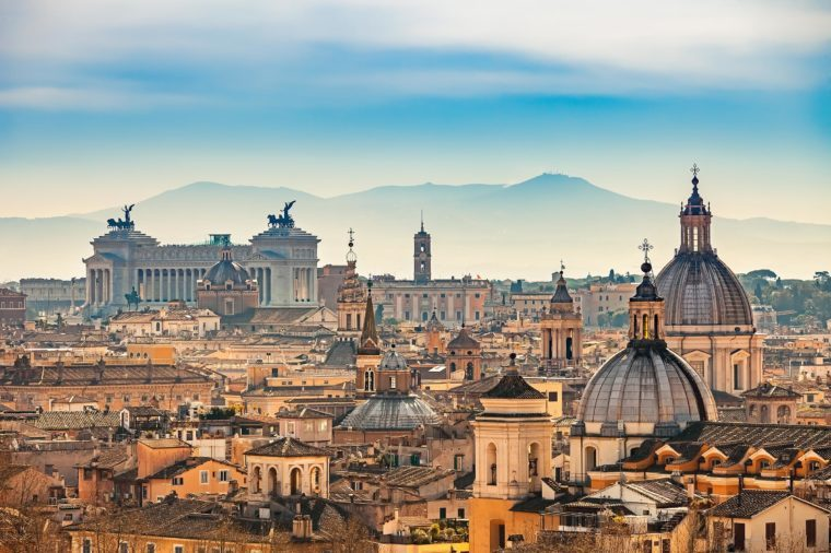 View of Rome from Castel Sant'Angelo