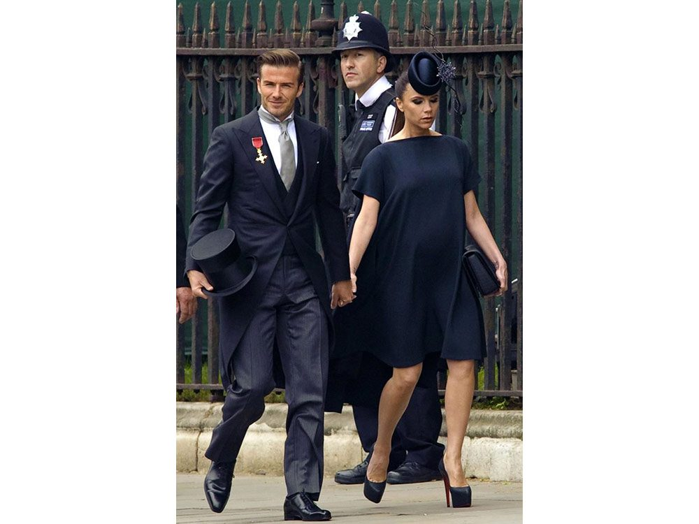 David and Victoria Beckham arrive to Prince William and Kate Middleton's wedding