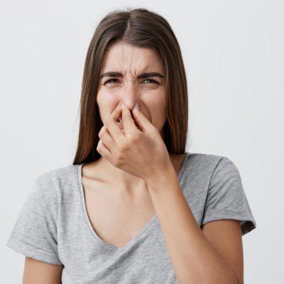 Smelling fecal matter