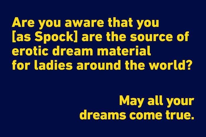 Leonard Nimoy funny quote