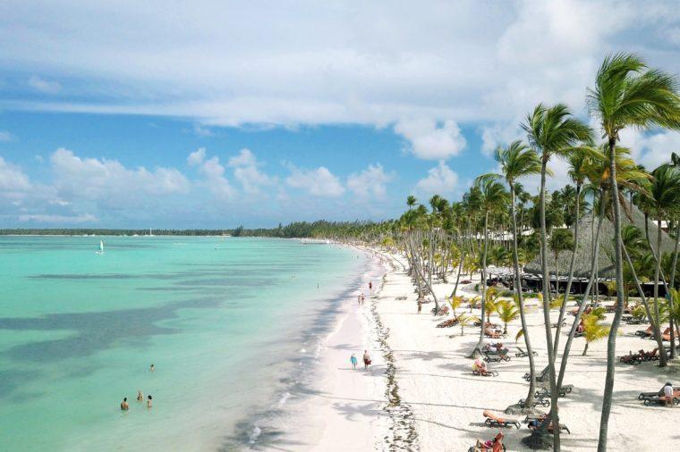 Aerial of Bavaro Beach, Punta Cana, Dominican Republic
