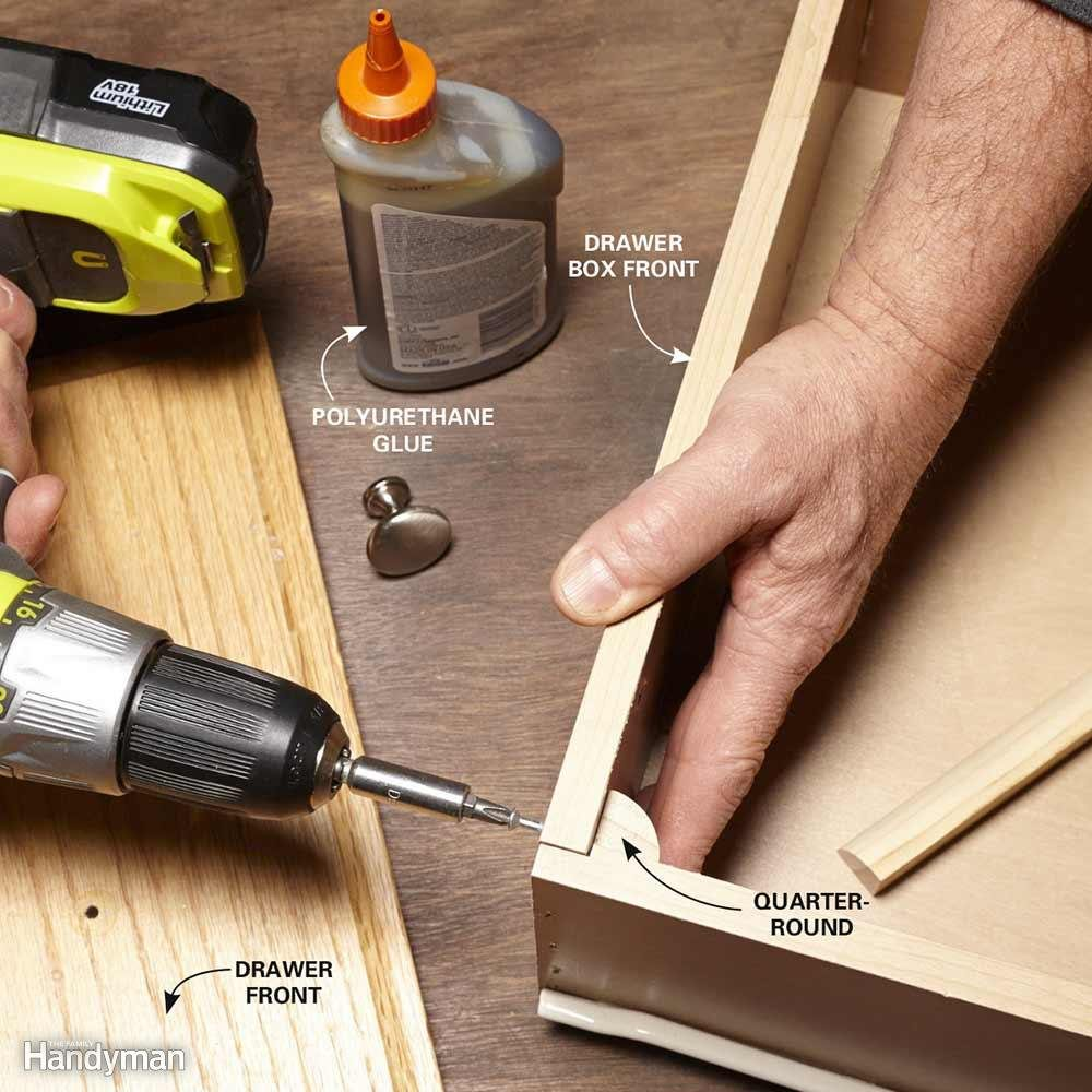 Reinforce a Drawer Front