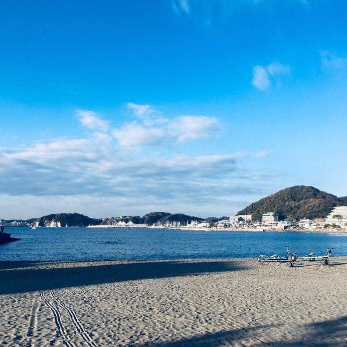 Isshiki coast in Hayama cho, Kanagawa prefecture, Japan