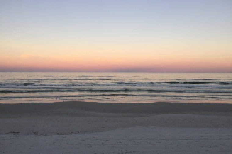 Beautiful New Smyrna Beach, Florida USA in Winter
