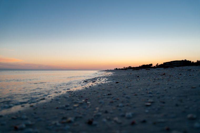 Sunset over Sanibel Island, Florida, USA