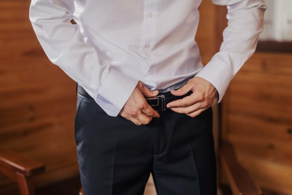 man belt pants
