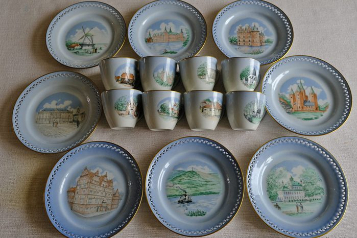 Danish cups and plates