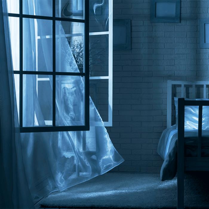 Open windows at night