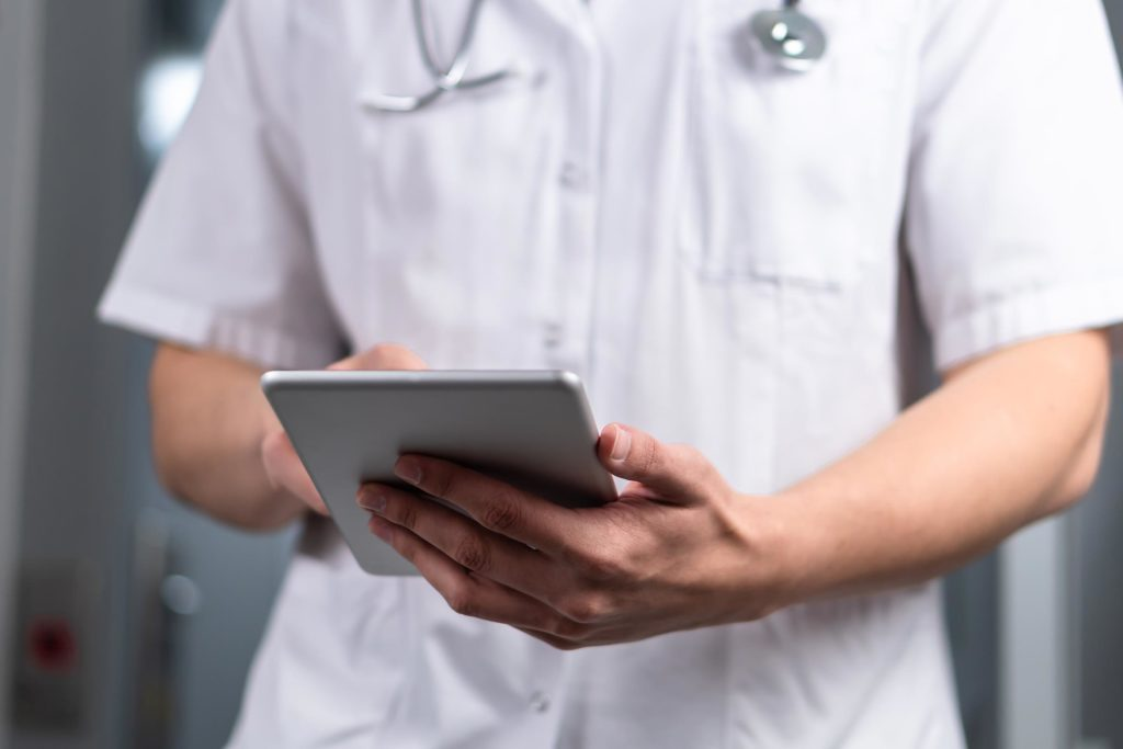 doctor tablet close up