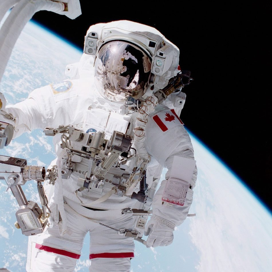 First Canadian spacewalk - astronaut Chris Hadfield