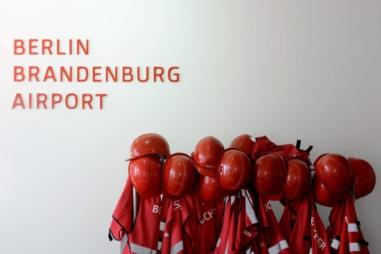 Red Protection Helmets berlin bradenburg airport