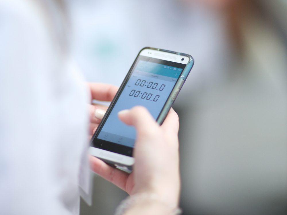 Timer on smartphone