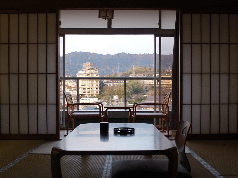 Onsen hotel room in Otsu, Japan