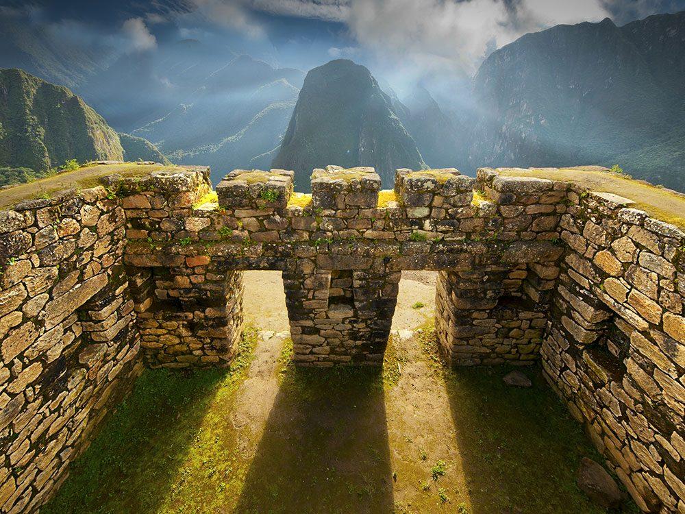 Machu Picchu abandoned