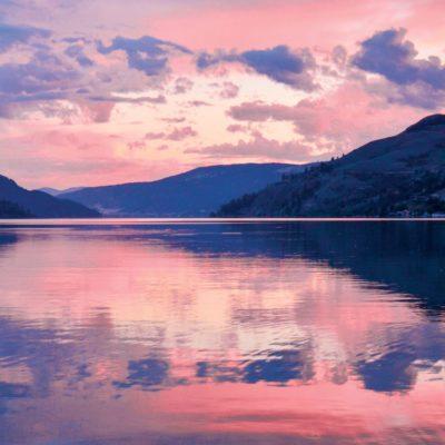 Sunset over Kalamalka Lake, Coldstream, B.C.