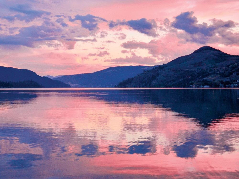 Sunset over Kalamalka Lake, Coldstream, B.C.