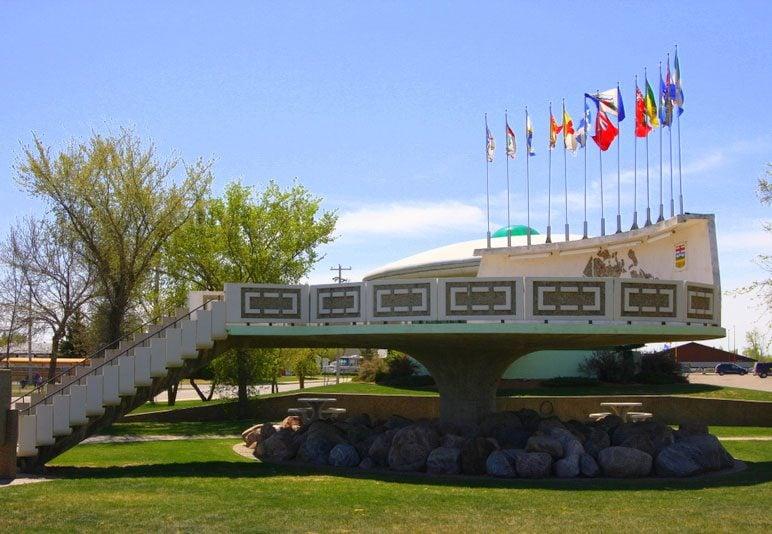 Roadside attractions across Canada - UFO Landing Pad