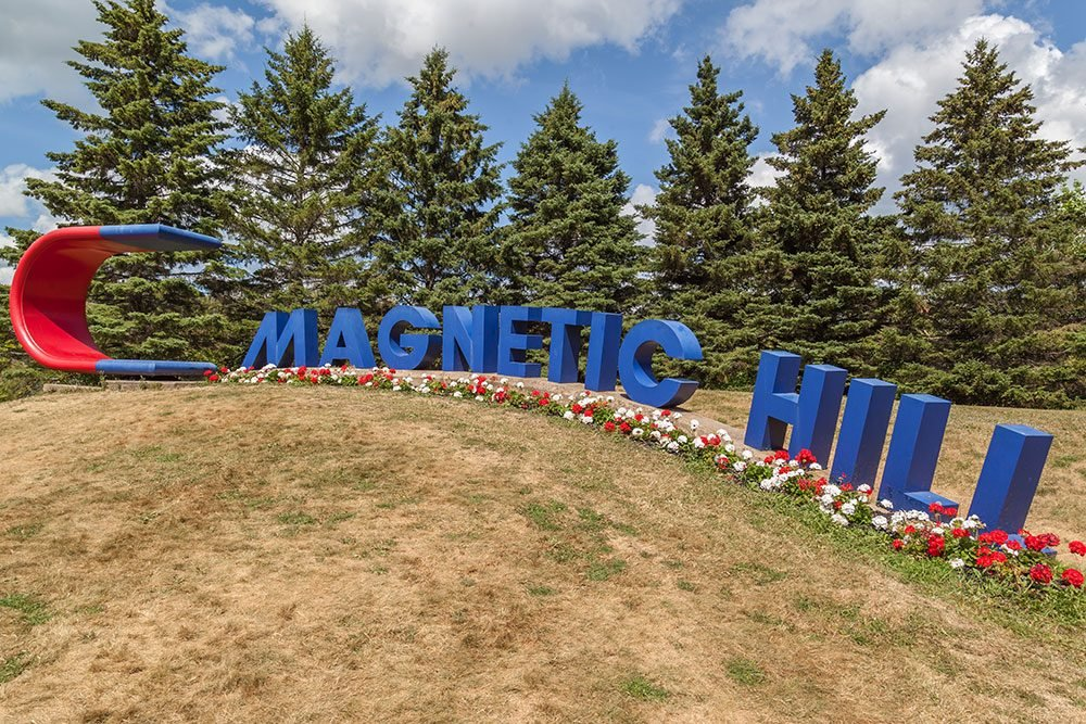 Roadside attractions across Canada - Magnetic Hill Moncton New Brunswick