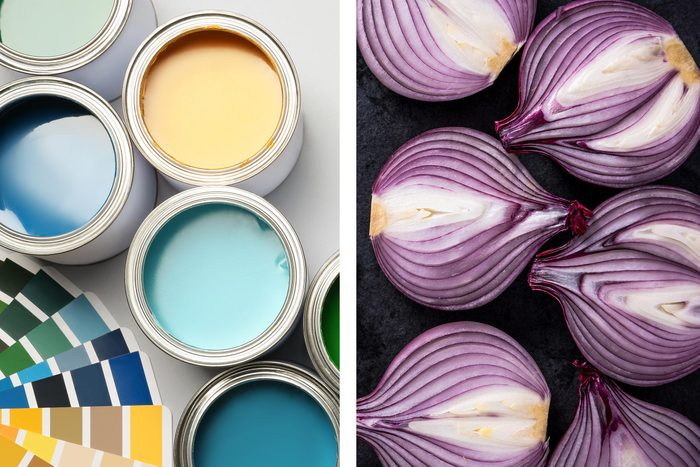 paint cans onions