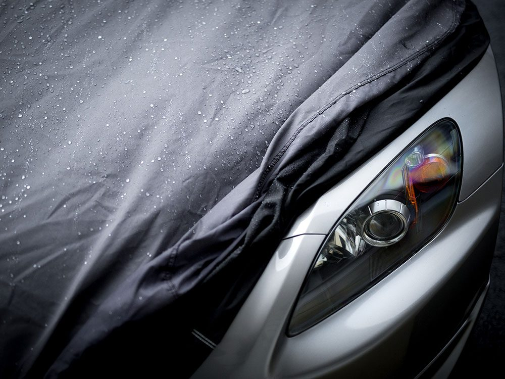 Storing car for winter - car cover