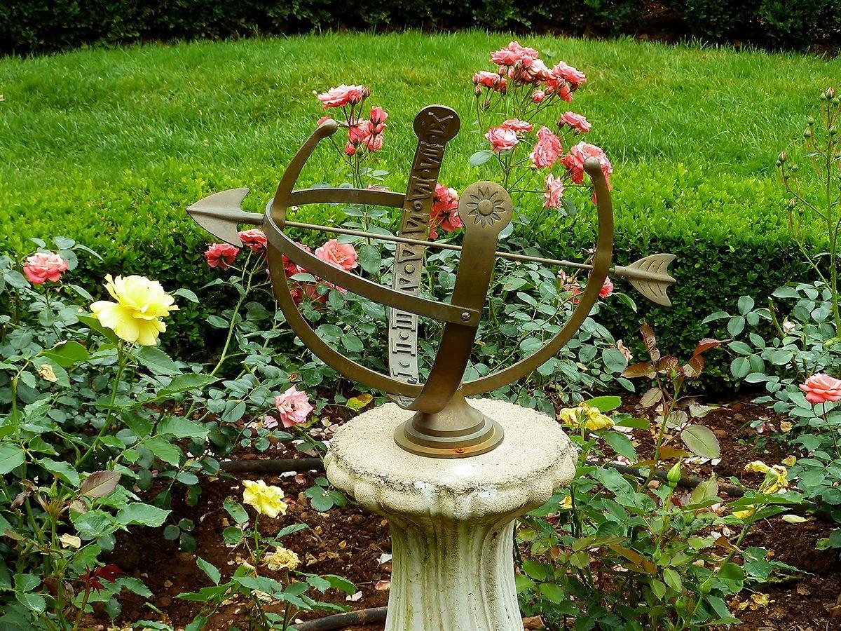 Sundial in a garden
