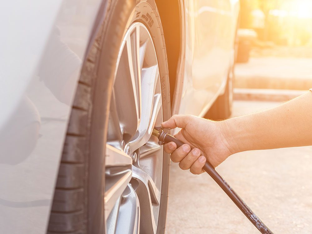Things you should never do to your car - overinflate the tires