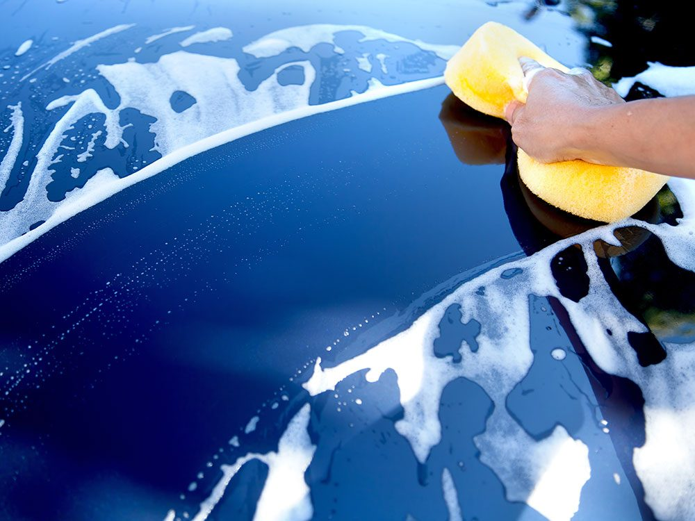 Things you should never do to your car - wash with dish soap