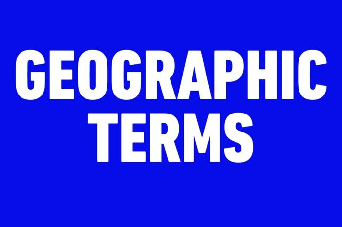 geographic terms