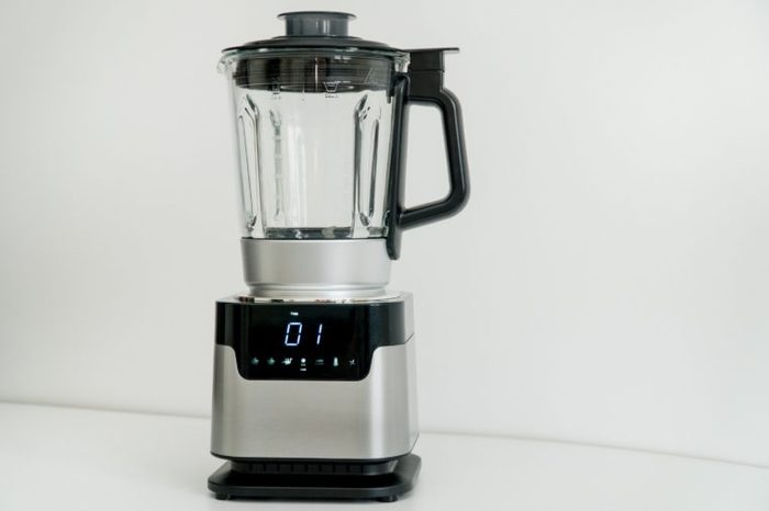 Blender with touch-screen in the kitchen. Electric Kitchen and Household Domestic Appliance