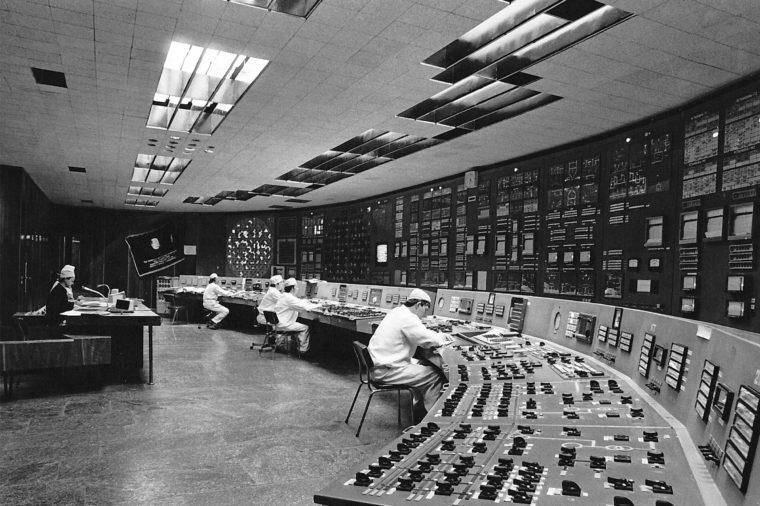 Chernobyl reactor control room