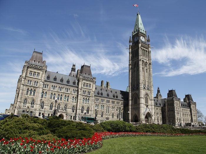 Canada landmarks - Parliament Hill in Ottawa