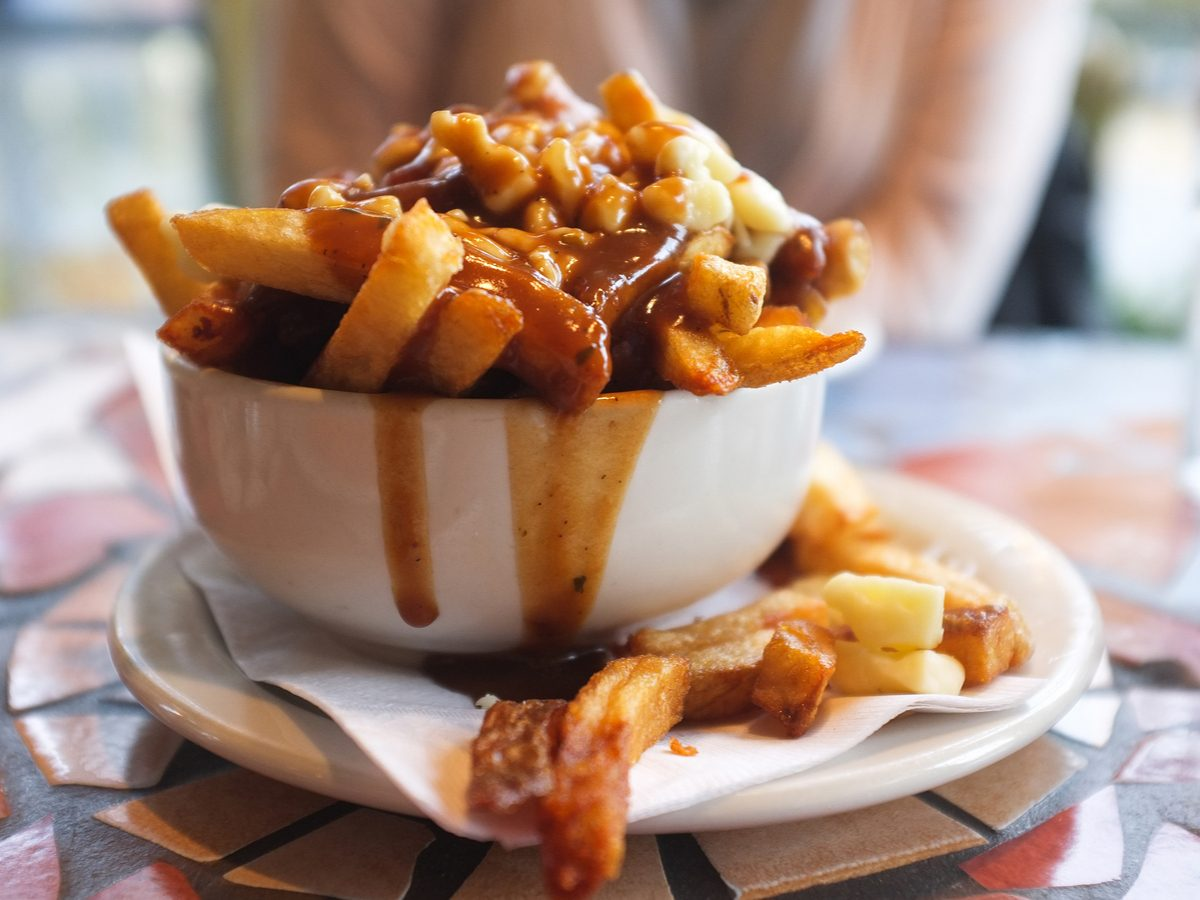 Traditional poutine dish