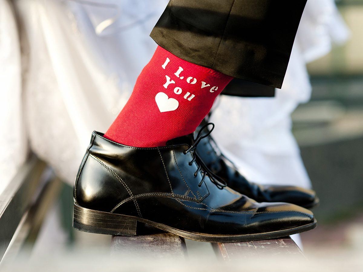 Funny Wedding Jokes About Marriage - I Love You Groom Socks