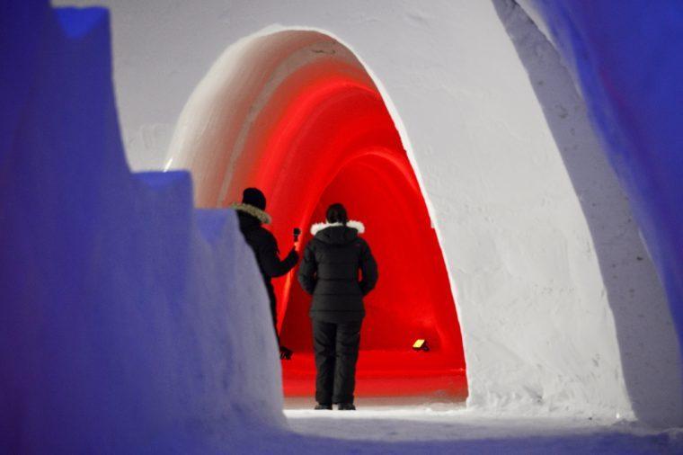 'Game of Thrones' themed ice hotel, Kittila, Finland - 14 Jan 2018