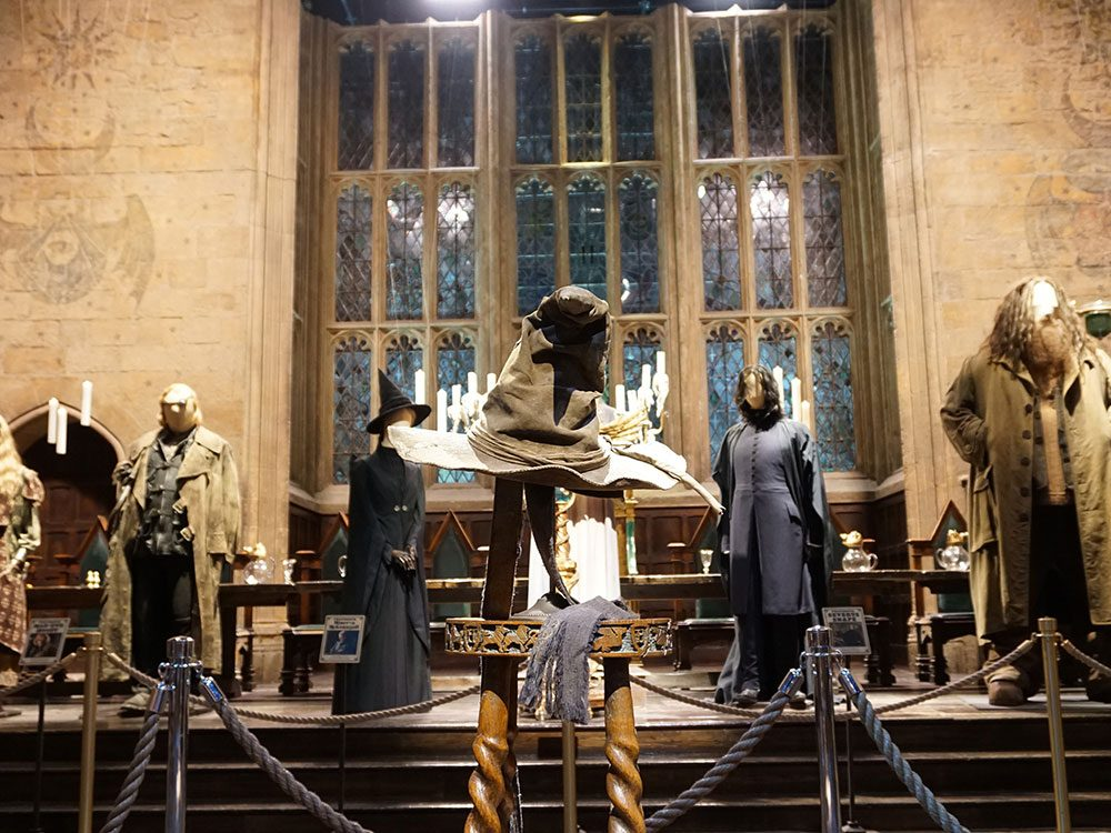 Harry Potter exhibit sorting hat