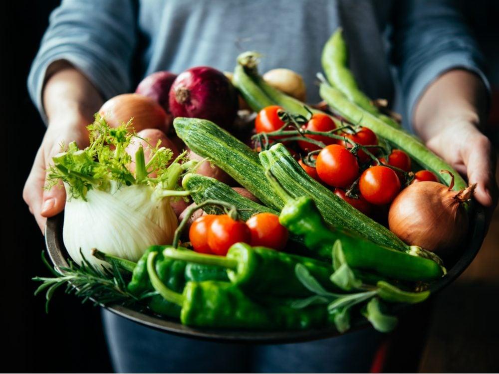 heart health raw veggies